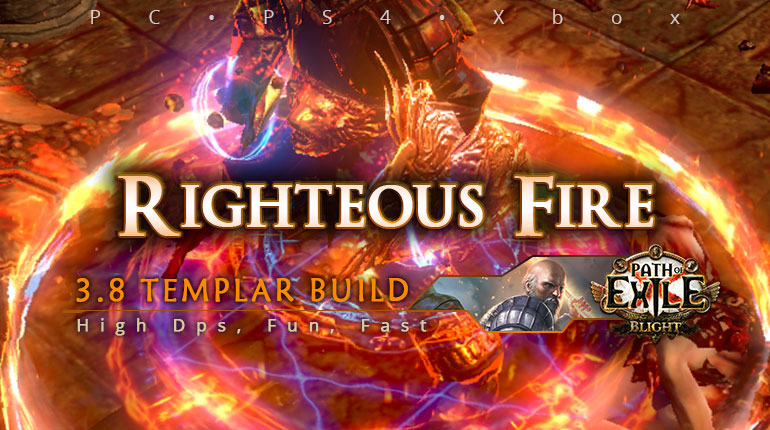 [Templar] PoE 3.8 Righteous Fire Guardian Funny Build (PC, PS4, Xbox)